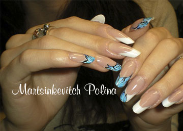 Pose en gel french gel lm cosmetic brun m tallic le blog de starliline - Apprendre a faire les ongles en gel ...